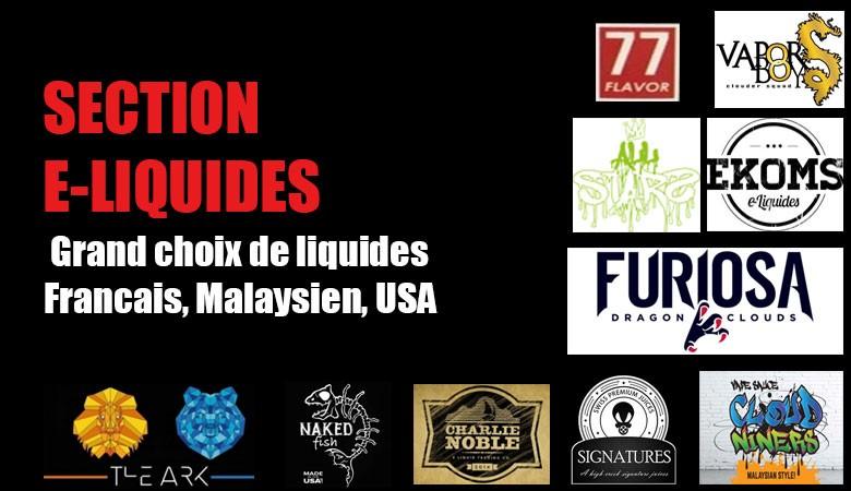 Section E-Liquides