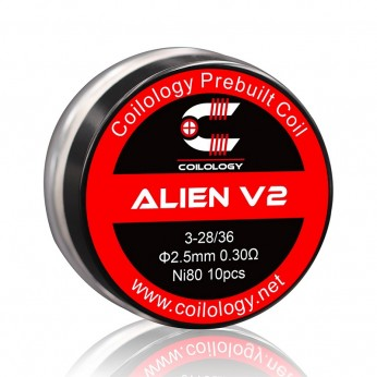 Pack 10 Alien V2 Coilology 0.3 ohm