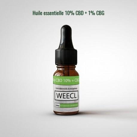 Huile 10% CBD + 1% CBG Weecl, huile naturelle de cannabis