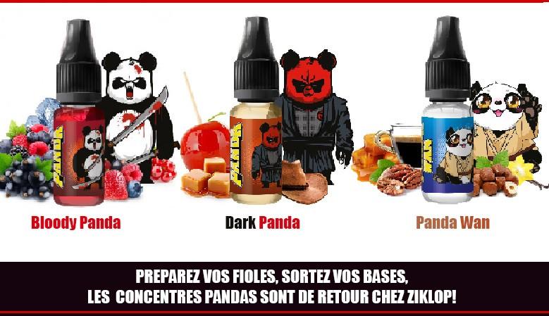 LES CONCENTRES PANDA d'AL SONT CHEZ ZIKLOP - Panda wan - Dark Panda - Bloody Panda